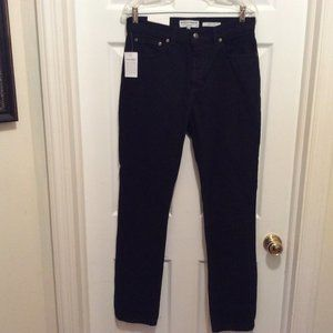 American Apparel Jeans 32 Slim Leg Black Solid